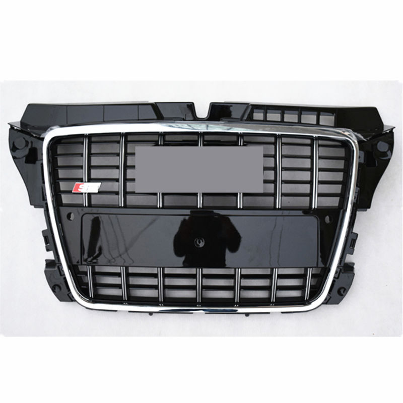 S3 Style Chrome frame Black Front Bumper mesh Grill Grille Car styling For Audi A3 S3 RS3 2009 2010 2011 2012 2013