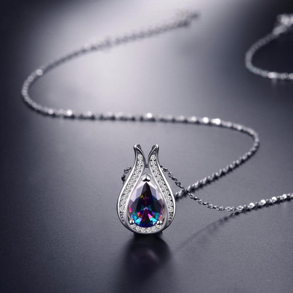 Toptan 100% gerçek 925 Ayar Gümüş kolye Marka EN Kaliteli - Takı - Fotoğraf 2