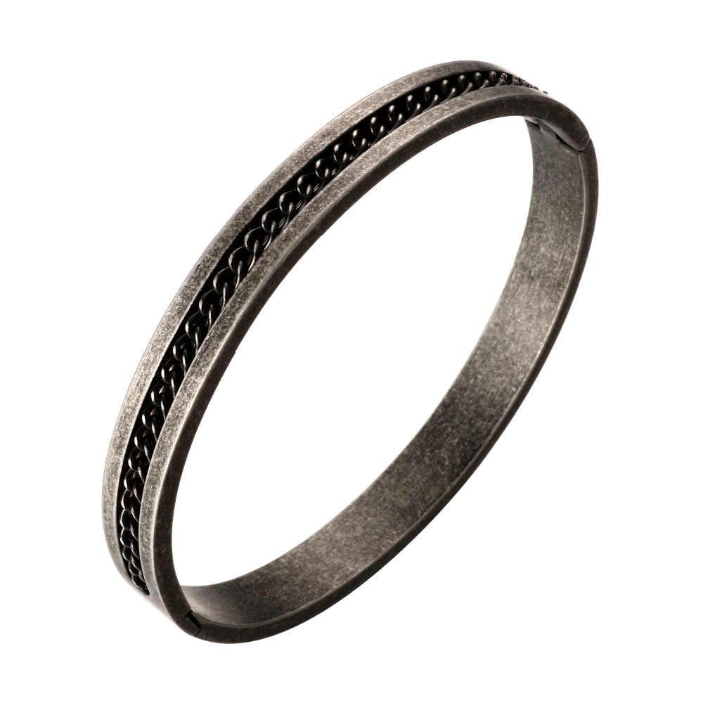 Роскошные Панк Винтаж Стиль нержавеющая сталь браслет мужчины цепи браслеты 62