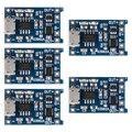 5x módulo carregador com proteção da bateria de lítio tp4056 micro usb 5 v 1a te420