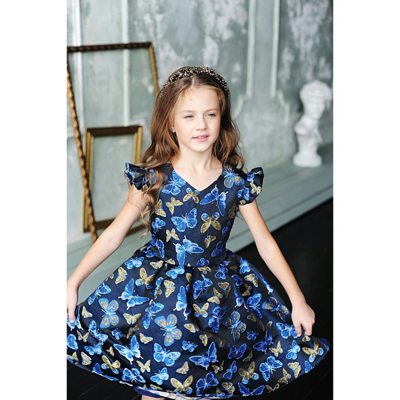 dress mum and daughter matching outfits clothing summer big sister little sister fashion girls print floral family look 2019 in Matching Family Outfits from Mother Kids