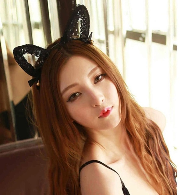 1PC Lace Exquisite Sweet Lace Cat Ears Bell Headband Cute Cat Cosplay Halloween Costume Headbands  sc 1 st  AliExpress.com & 1PC Lace Exquisite Sweet Lace Cat Ears Bell Headband Cute Cat ...