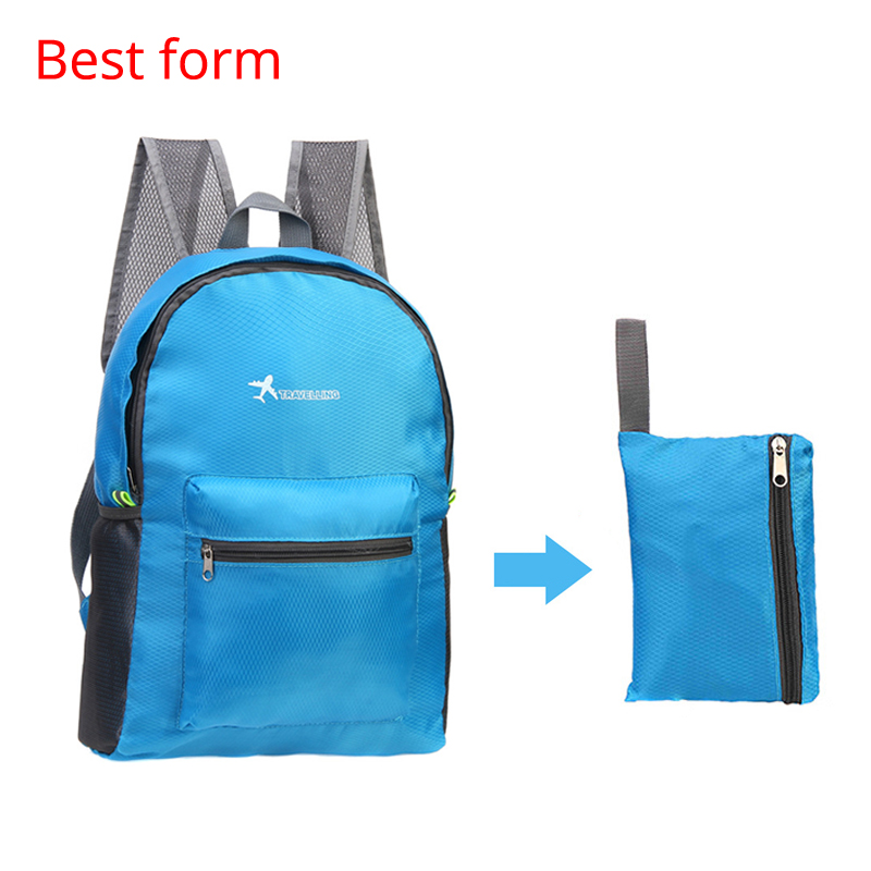 Waterproof Travel Backpack Large Capacity Breathable Nylon Outdoor Mountaineering Bag Diamond Shaped Folding Backpack Various Styles Climbing Bags