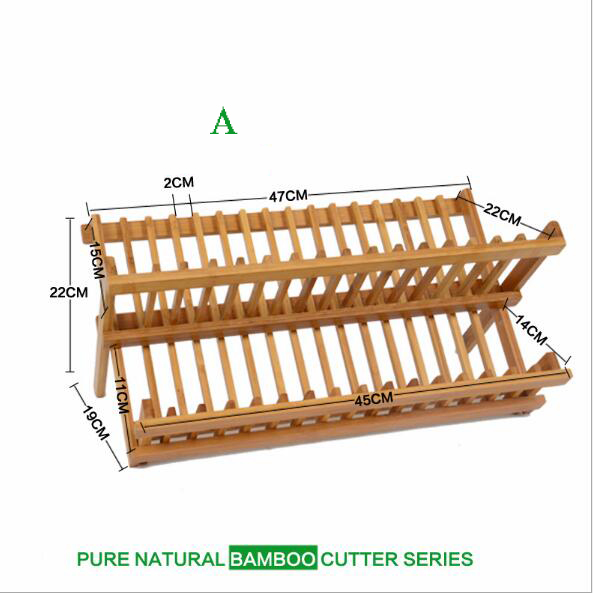 Green Natural Bamboo Kitchen Drain Holder Put Dishes Plate Rack Cabinet Rack Double Drip Air drying Dishes Rack Storage Racks-in Racks u0026 Holders from Home ...  sc 1 st  AliExpress.com & Green Natural Bamboo Kitchen Drain Holder Put Dishes Plate Rack ...