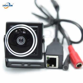 HQCAM 5/4/3/2/1.3/1MP Audio video camera MINI IP camera H.264 mic camera P2P network 1.78mm Fisheye Wide Angle Fisheye Lens - DISCOUNT ITEM  15% OFF All Category