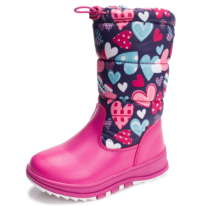 Kids Winter Boots Girls Floral Shoes Girls Fashion Flat Boots Warm Velvet Snow Boots Children Brand Shoes 926 2016 new winter kids snow boots children warm thick waterproof martin boots girls boys fashion soft buckle shoes baby snow boots