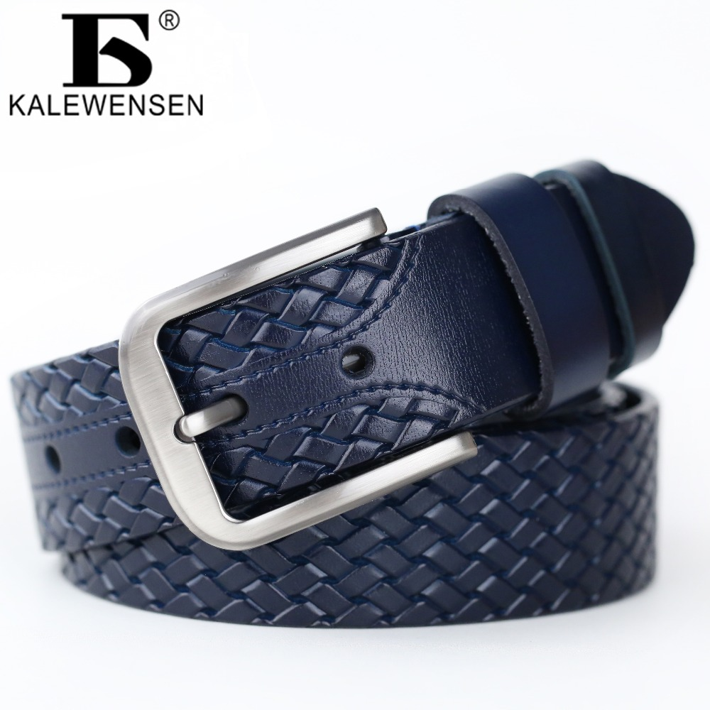 2017 newest mens belts luxury famous brand casual design male high quality cowskin leather belt navy ceinture homme LJ039