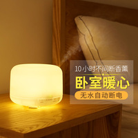 Household Night Light Two Colors Ultrasonic Air Humidifier 500ML Auto Stop Air Humidifier Aroma Oil Diffuser