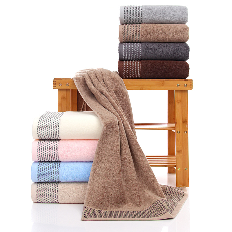 Sports Towel Absorption: Two Piece 100% Cotton Couple Towel Washcloth Home Textiles