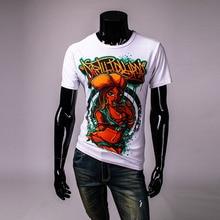 New miley cyrus 3 d short sleeve T-shirt overall print men cotton t shirt summer Round collar short sleeve men's Tshirt TS227