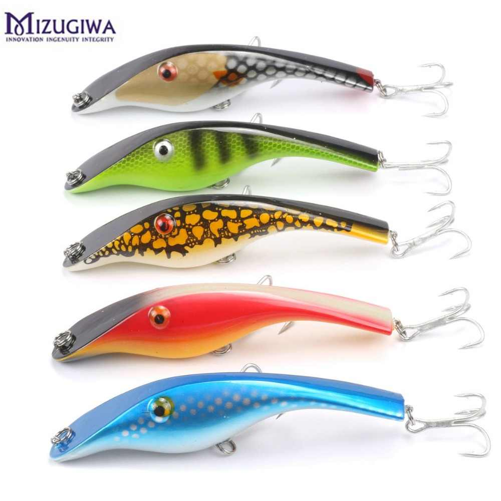 Fishing Lure Pike Jerkbait Musky Buster Jerk Bigเหยื่อVIB Mustad Hooksช้าBig Bass140mm 42G TREBLE Hooks 3D Eye