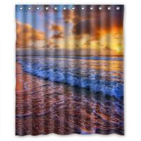 Glam Sunrises And Sunsets Scene Shower Curtain Pattern Shower Curtain Waterproof Fabric Shower Curtain For Bathroom
