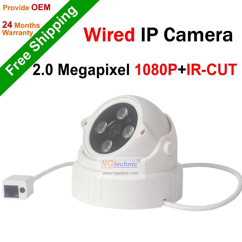 ФОТО Free shipping! 2.0Megapixel Full HD night vision Dome IP Camera support motion detect onvif P2P surveillance 1080P cctv camera