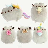 Cartoon Cat Plush Toys Donuts Cat Kawaii Cookie Icecream Rainbow Cake Plush Soft Stuffed Animals Toys for Children Kids Gift