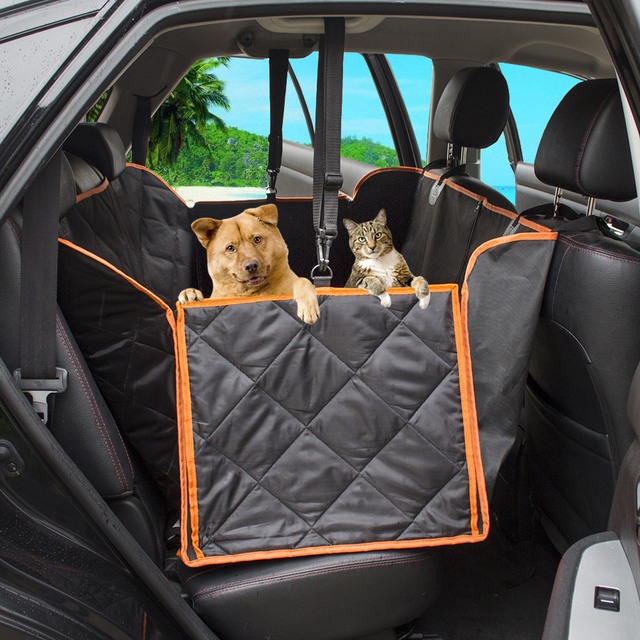 Black Orange Camo Oxford Dog Carriers Pet Car Seat Cover Back Seat  Waterproof Mat Hammock Cushion Protector for Travel Supplies 8a37c4df7