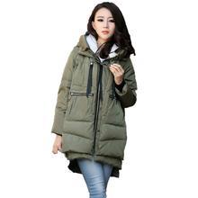 Winter parka jacket women korean loose fashion hooded new black army green Khaki Wine Red M-3XL plus size warmth clothing LR316 цена