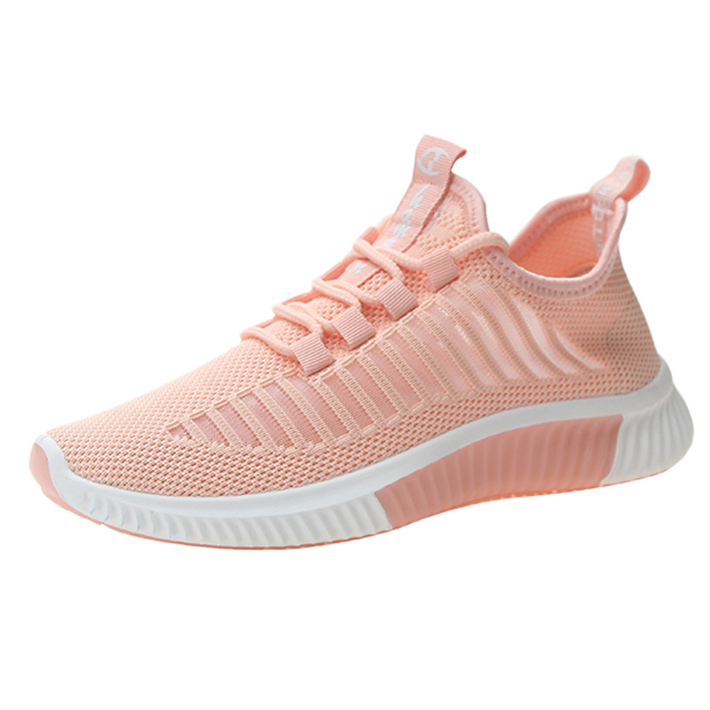 SAGACE Summer Ladies Sneakers Breathable Wild Casual Shoes Lightweight Round Head Strap Fashion Outdoor Lace Sneakers 2019