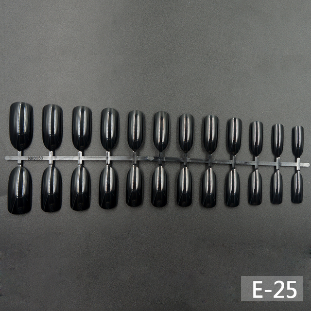 Full Cover Round False Nails Matte Stiletto Coffin Short Nail Tips ABS Artificial Nail Art Decorations Women