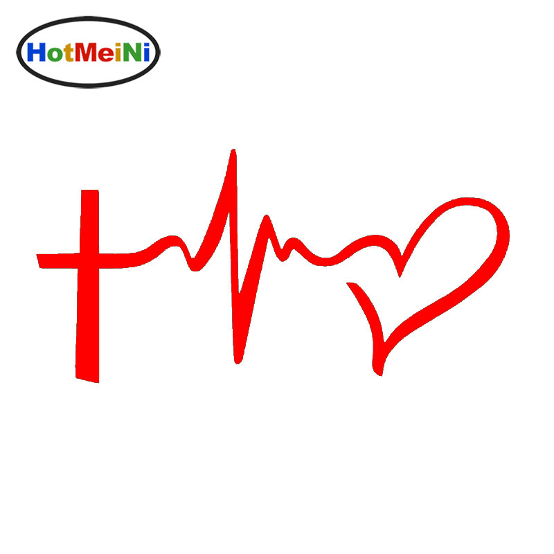 HotMeiNi Faith Hope Love Symbol Heart Jesus Cross Car Stickers for Motorcycles Door Car Styling Waterproof Vinyl Decal 10 Color martyrs faith hope and love and their mother sophia 3d model relief figure stl format religion for cnc in stl file format