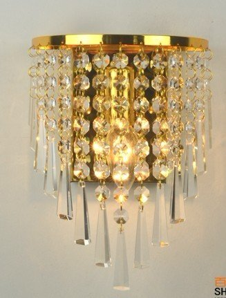 Фотография Crystal wall lamp of bedroom the head of a bed sitting room corridor wall lamp lighting SJ137