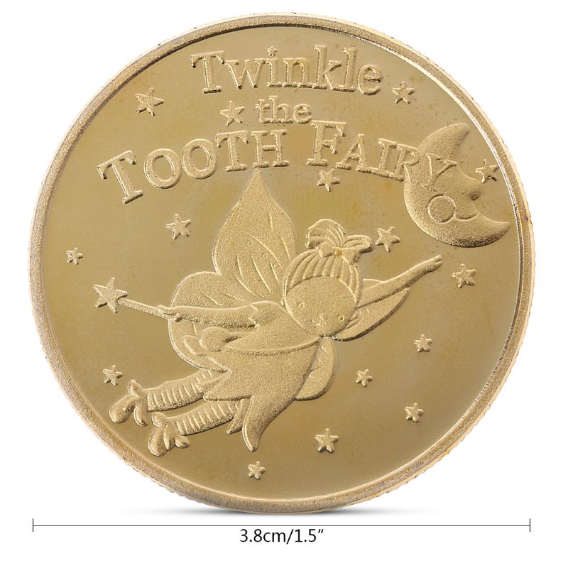 OOTDTY 1PCS Tooth Fairy Commemorative Coin Collection Gift Souvenir For Chlidren Gift