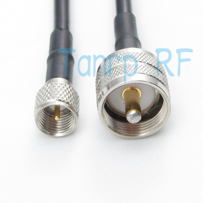 Free shipping! RG58 cable 20INCH UHF male plug to MINI UHF male plug 50CM  extension cable RF Pigtail coaxial  jumper