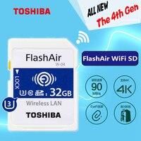 Original TOSHIBA Genuine Wifi Memory SD Card 32GB SDHC SDXC Class 10 U3 FlashAir W 04 Memory card For Digital Camera