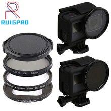 Filtro uv 52mm, profissional para gopro hero 5 6 7 câmera de ação preta com suporte para lente acessórios pro 7 6