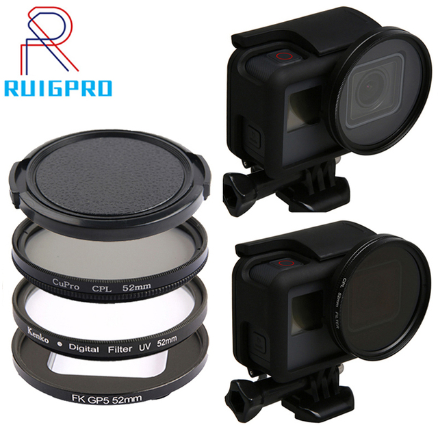 Professional 52mm UV Filter for GoPro Hero 5 6 7 Black Action Camera with Lens Cover Mount For Go Pro 7 6 Accessories