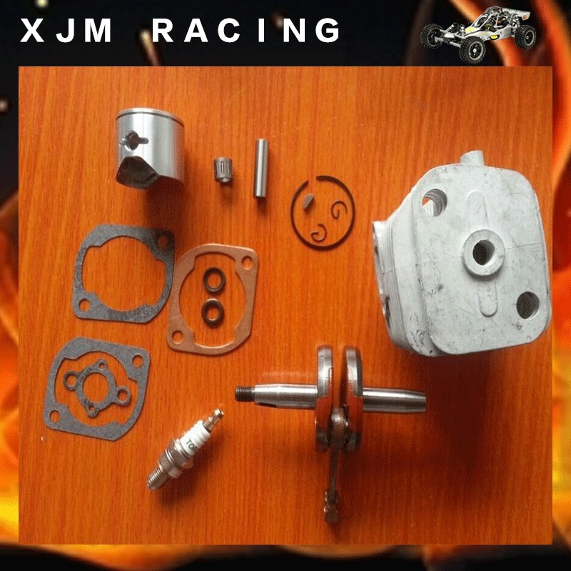 30.5cc 2 BOLT big bore upgrade engine kit Fits HPI BAJA 5B 5T SS SC ROVAN aluminum water cool flange fits 26 29cc qj zenoah rcmk cy gas engine for rc boat