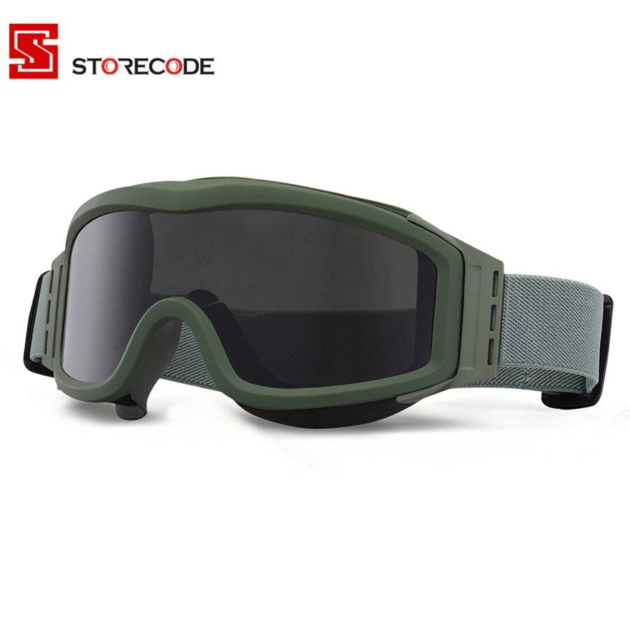 Prix pour Militaire Airsoft Lunettes de Sécurité Combat Armée lunettes de Soleil 3 Interchangeables Anti-Brouillard Tactique Lunettes de Tir Lunettes Lunettes RK3