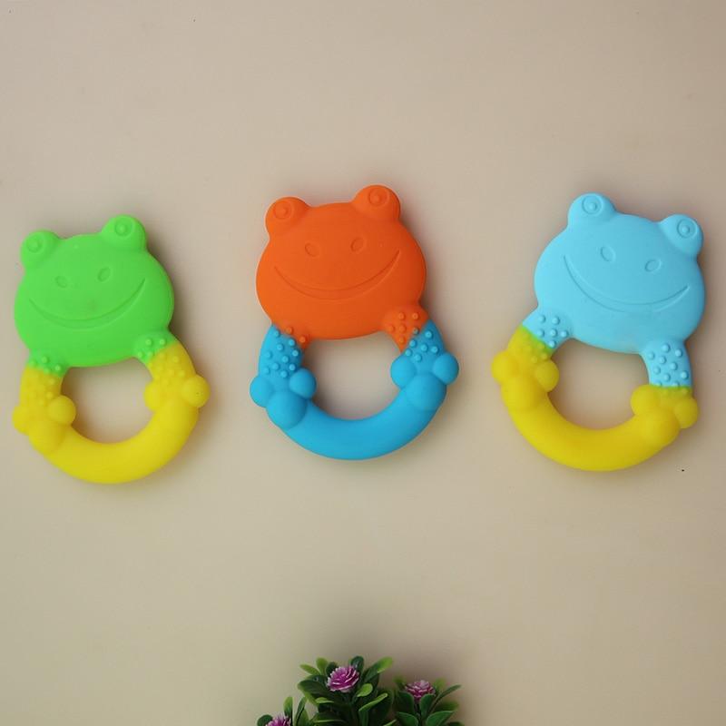 Նորածնի մանկավարժներ Երեխաներ Սիլիկոնային Խաղալիք երեխաներ Rնցում են երեխաներին Կենդանիներ Գորտ Գնորդներ Սիլիկոնային մարզում Փոքրիկ նորածինների սիրուն խելոք 1 հատ