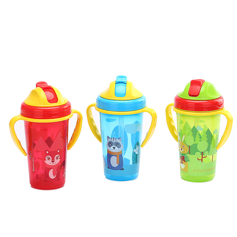 BPA Free New Baby Training Cup Infant Leak-Proof Cute Drinker Toddler Anti-fall Handle Bottles Kid Healthy Drink Kettle MY0052