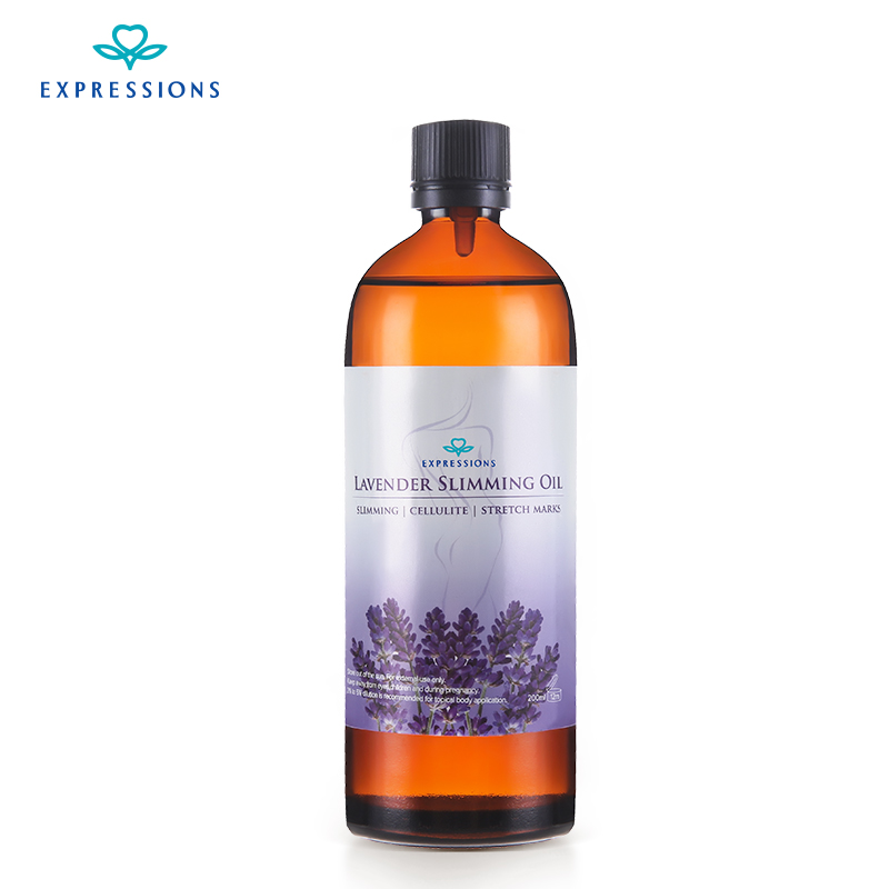 Slimming Body Massage Oil 200ML Austraalia 100% Beauty Essentials Õlid Vitamiin Lavendel Eeterlikud õlid aroomiteraapia hajutitele