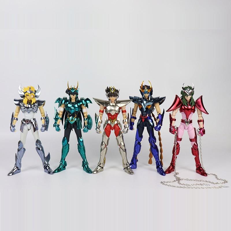 Anime Saint Seiya ultimately Bronze Saints series Hyoga Ikki Shun EX Metal Armor Action Figure Collection Model Toy saint seiya myth cloth shun hyoga ikki action figure collectible model toy 17cm 3 styles