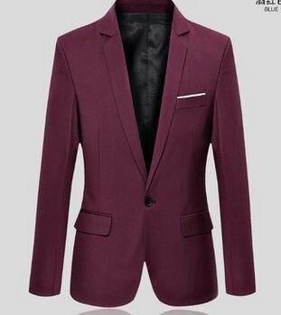 Новое поступление топ костюм для мужчин осенний мужской повседневный Блейзер корейский тонкий пиджак мужской блейзер 6 цветов S-6XL 030602 - Цвет: 4
