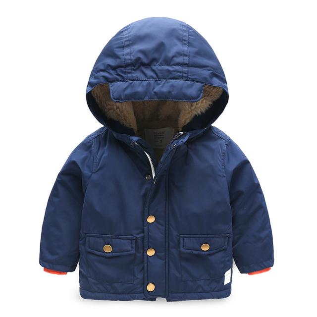 Chaqueta de invierno los niños trajes para niños sudadera con capucha de terciopelo acolchado de manga larga ropa de bebé