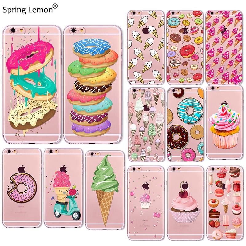 Spring Lemon Rainbow Color Food Donuts Macaron Phone Cases ...