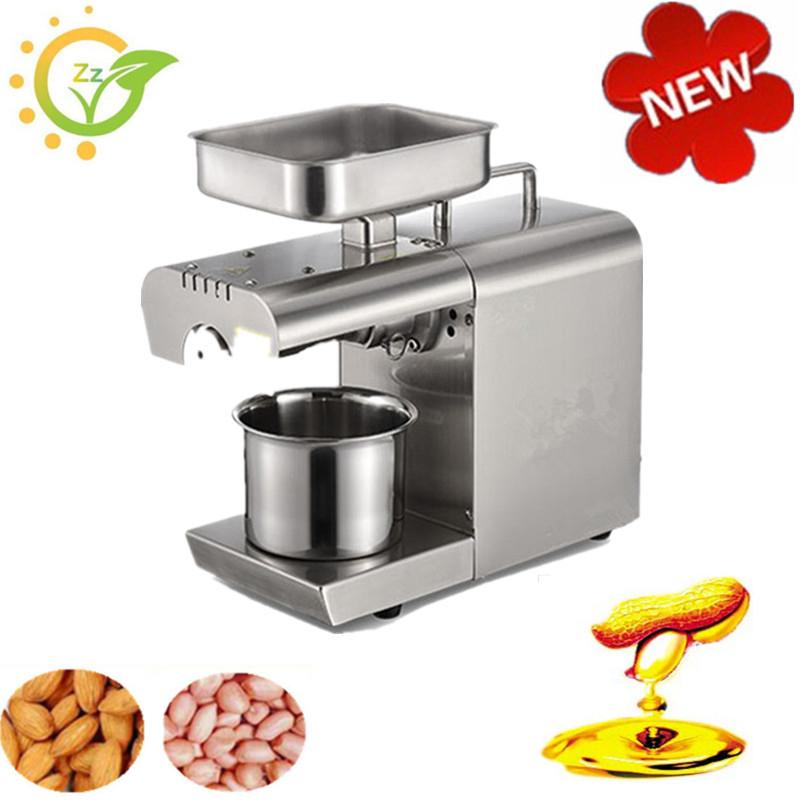 Small household seeds Oil Press Machine seeds Peanut Oil Presser maker automatic stainless steel electric Oil Expeller Extract cherry seeds 454g
