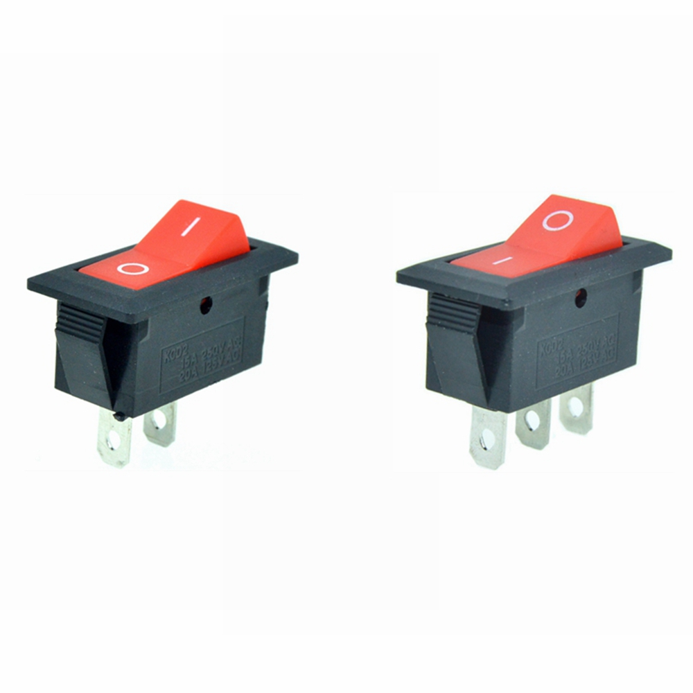 ON MARINE BOAT BLOWER ROCKER SWITCH Momentary -OFF SPST 3 PIN 2 LED GREEN RED