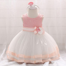 2019 Summer Baby Girls Dress For Girls Princess Dress Infant Wedding First Birthday Girl Party Dress Clothes Clothing 6 12 Month(China)