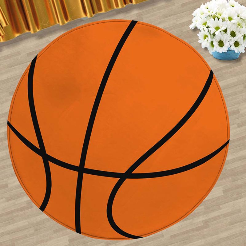 Zeegle Wood Pattern Computer Chair Floor Mats Living Room Round Carpet Kids Room Rug Non-slip Mats Bedroom Carpet For Children