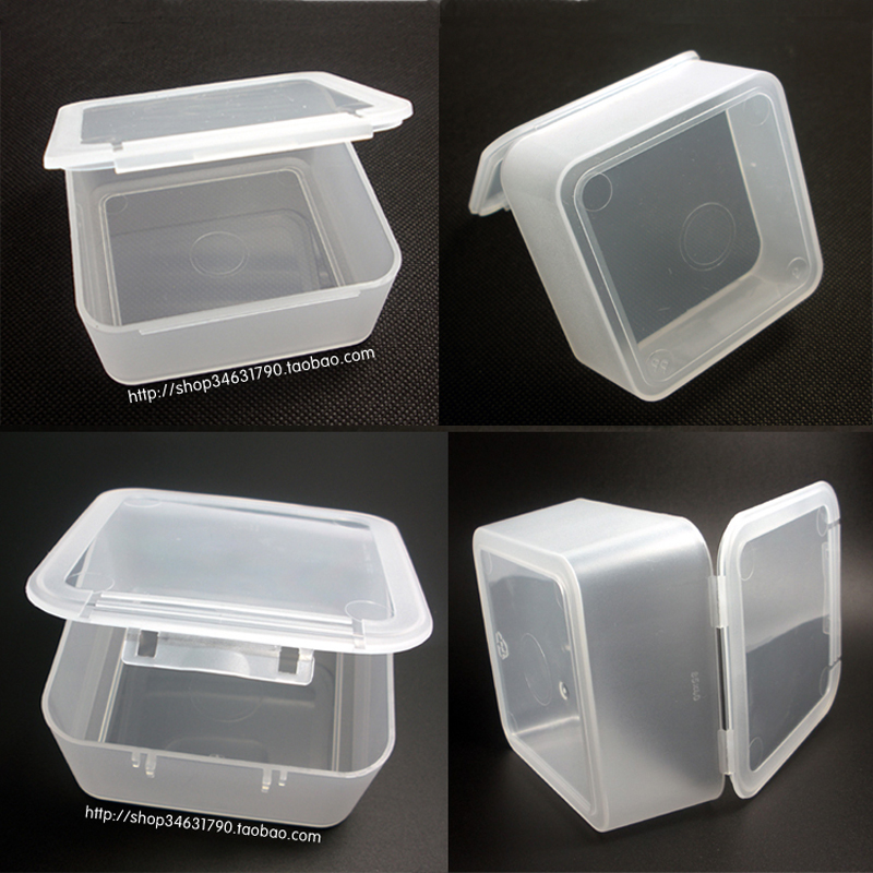 Free Shipping Transparent Plastic Small square Boxes Packaging Thicken Storage Box lidded Jewelry box Accessories Finishing Box-in Storage Boxes u0026 Bins from ... & Free Shipping Transparent Plastic Small square Boxes Packaging ...