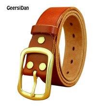GEERSIDAN New genuine leather belt for men gift designer belts mens high quality Cowskin Personality buckle Vintage jeans