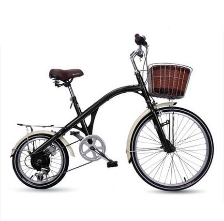 새로운 X-Front 브랜드 도시 레트로 16/24 인치 탄소강 여성 자전거 6 속도 자전거
