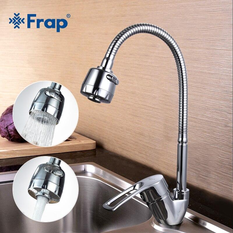 FRAP Solid Keuken Mixer Koude en Hot flexibele Keuken Tap eengreeps Gat Water Tap Keukenkraan Torneira Cozinha F43701-B