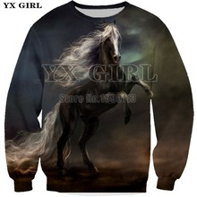 New Spring Hoodies Men Horse 3D Print Soil Pullover Long Sleeve Casual Loose Sweatshirts Men Plus Size Tops Tracksuits 7XL