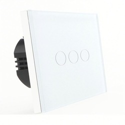 Bseed 240v Touch Light Switch 3 Gang 2 Way Touch Sensor Switch With Glass Panel White Touch Switch Eu Uk