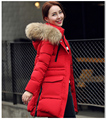 2016Women winter cotton coat new Korean version the long section pure color thickening Large size Fur collar cotton jacket A160