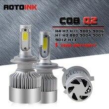 AOTOINK Farol H1 H3 H4 H7 Lâmpada LED H11 9006/HB4 9005/H13 HB3 lâmpadas LED 72 W 9200lm kit Farol Do Carro Luz de Nevoeiro Auto Lâmpada Led